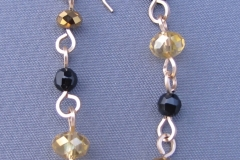 Black & Gold Simple Loop Earrings 1 - WirednTwistednStoned