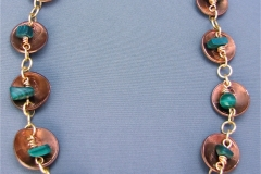 Pennies with Malachite Necklace 1 - WirednTwistednStoned