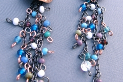 Domed & Encaptured in Chain Earrings 1 - WirednTwistednStoned