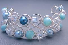 Swirly Seas/Infinite Bracelet 1 - WirednTwistednStoned