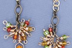Falling Leaves Earrings 1 - WirednTwistednStoned