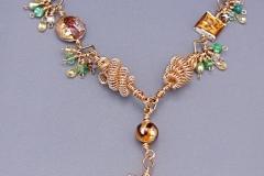Golden Leaf Necklace 1 - WirednTwistednStoned