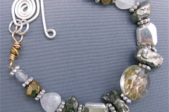 Gold and Silver Treasures Bracelet - WirednTwistednStoned