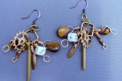 African Tribe Earrings 3 - #8-H-023- $50.00 - C3 - WirednTwistednStoned
