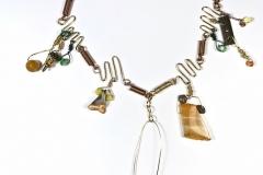 Yellow Swinging Acrobat Necklace - WirednTwistednStoned