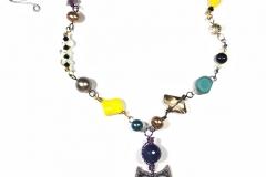 Ceramic Owl Pendant Necklace - WirednTwistednStoned