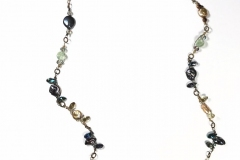 Delicate Dancing Bead Linked Waves Necklace - WirednTwistednStoned