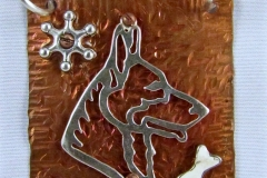 Sterling Silver German Shepherd Pendant Necklace For Jeanie - WirednTwistednStoned